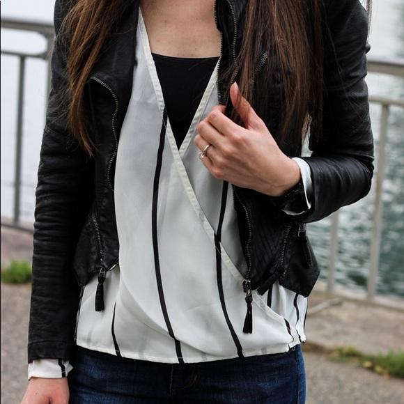 Tobi Tops - Striped Chiffon blouse
